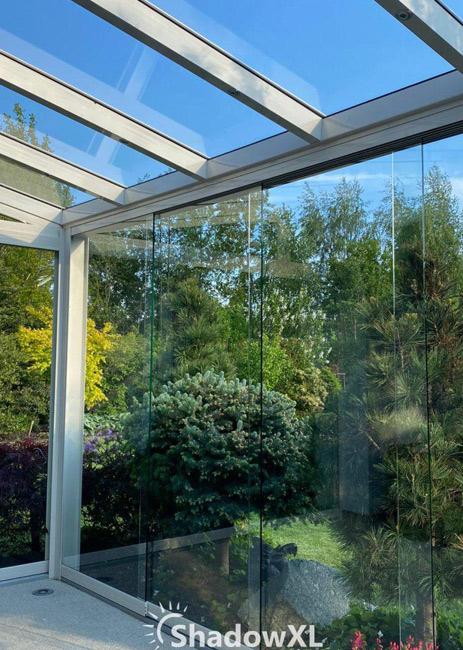 Weranda ze szklanym dachem